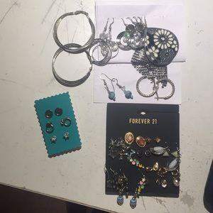 24 pairs of earrings